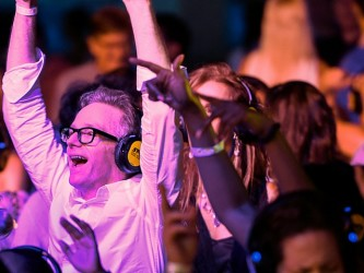 Barbican Centre hosted the world's first silent disco